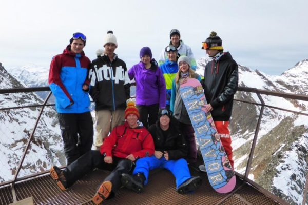 Army snowboarding team at 10,000 feet on the last day of EX SNOWMETHOD TEAM TRAINING led by John Craig - 2013